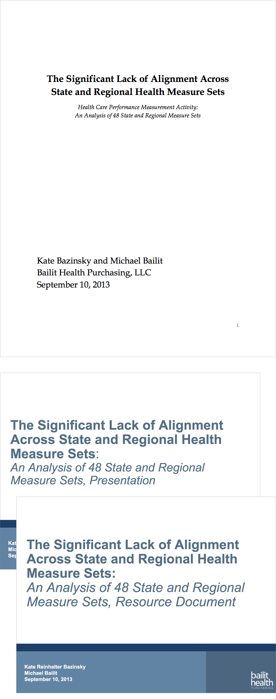 Research: Alignment of Existing Measure Sets